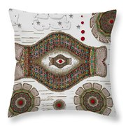 kissing fish from wishful Sea to the warm reef Throw Pillow by Pepita Selles