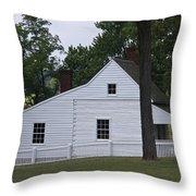 Kitchen And Slave Quarters Appomattox Virginia Throw Pillow by Teresa Mucha