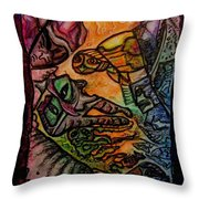 Kkritterly Throw Pillow by Mimulux patricia no