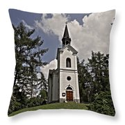Kostel Panny Marie Lourdske Throw Pillow by Juergen Weiss