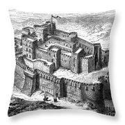 KRAK des CHEVALIERS Throw Pillow by Granger