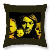 Kurt Cobain Throw Pillow by Ankeeta Bansal