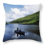 Kylemore Lake, Co Galway, Ireland Throw Pillow by The Irish Image Collection