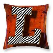 L Throw Pillow by Mauro Celotti