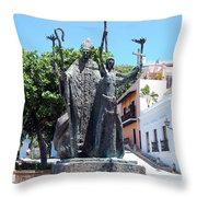 La Rogativa Sculpture Old San Juan Puerto Rico Throw Pillow by Shawn O'Brien