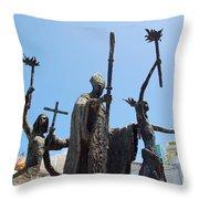 La Rogativa Statue Old San Juan Puerto Rico Throw Pillow by Shawn O'Brien