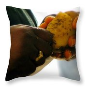 Labors Of Love Throw Pillow by Karen Wiles