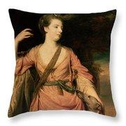 Lady Dawson Throw Pillow by Sir Joshua Reynolds