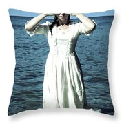 Lady In Water Throw Pillow by Joana Kruse