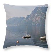 Lago Di Lugano Throw Pillow by Joana Kruse