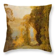 Lake Bourget from Mont Revard  Throw Pillow by Sir Alfred East