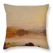 Lake Wawayanda Throw Pillow by Jasper Francis Cropsey