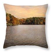 Lakeside Morning Throw Pillow by Jai Johnson