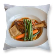 Lamb Shank Throw Pillow by Louise Heusinkveld