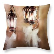 Lanterns Throw Pillow by Stephanie Frey
