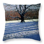 Large Tree Throw Pillow by Andrew Macara
