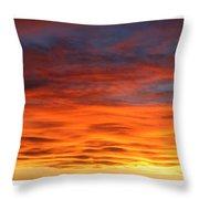 Las Cruces Sunset Throw Pillow by Jack Pumphrey