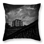 Late Night Brixton Skyline Throw Pillow by Lenny Carter