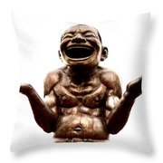 Laughter Throw Pillow by Ramona Johnston