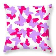 Layered Butterflies  Throw Pillow by Louisa Knight