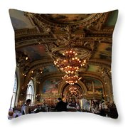 Le Train Bleu Throw Pillow by Andrew Fare