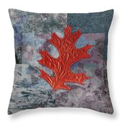 Leaf Life 01 - T01b Throw Pillow by Variance Collections