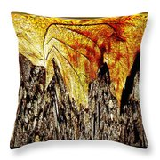 Leaf Meld Throw Pillow by Tim Allen