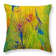 Leaves In The Jungle Throw Pillow by Judi Bagwell