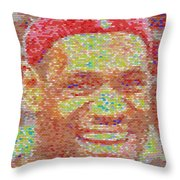 Lebron James Pez Candy Mosaic Throw Pillow by Paul Van Scott