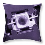 Lens Of A Cd Player Throw Pillow by Yali Shi