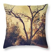 Let Us Sit Side By Side Throw Pillow by Laurie Search