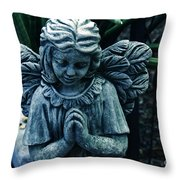 Lets Pray Throw Pillow by Susanne Van Hulst