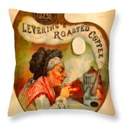 Levering's Roasted Coffee Throw Pillow by Anne Kitzman