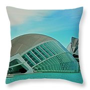 L'hemisferic - Valencia Throw Pillow by Juergen Weiss