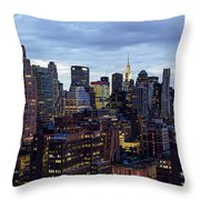 Life In The Big City Throw Pillow by Janet Fikar