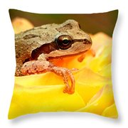 Life In The Rose Throw Pillow by Jean Noren