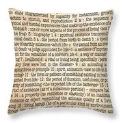 Life Throw Pillow by Monday Beam
