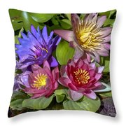 Lilies No. 11 Throw Pillow by Anne Klar