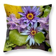 Lilies No. 12 Throw Pillow by Anne Klar