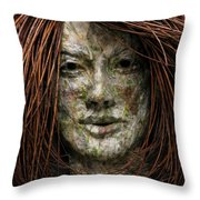 Lilly Throw Pillow by Adam Long