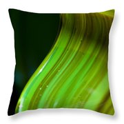 Lime Curl Ll Throw Pillow by Dana Kern