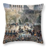 Lincoln Inauguration Throw Pillow by Granger