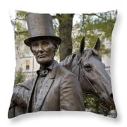 Lincoln Statue, 2008 Throw Pillow by Granger