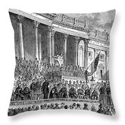 Lincolns Inauguration, 1861 Throw Pillow by Granger