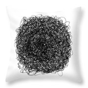 Line 9 Throw Pillow by Rozita Fogelman