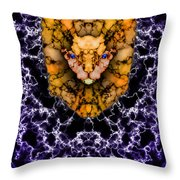 Lion's Roar Throw Pillow by Christopher Gaston