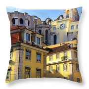 Lisbon Buildings Throw Pillow by Carlos Caetano