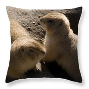 Little Dogs On The Prairie Throw Pillow by Trish Tritz