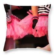 Little Pink Tutus Throw Pillow by Lauri Novak