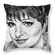 Liza Minnelli In 2006 Throw Pillow by J McCombie